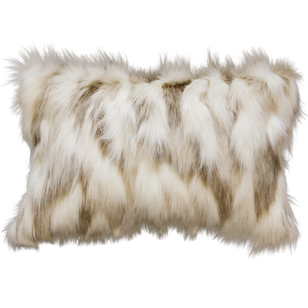 Heirloom Exotic Faux Fur - Cushion / Throw- Snowshoe Hare image 3