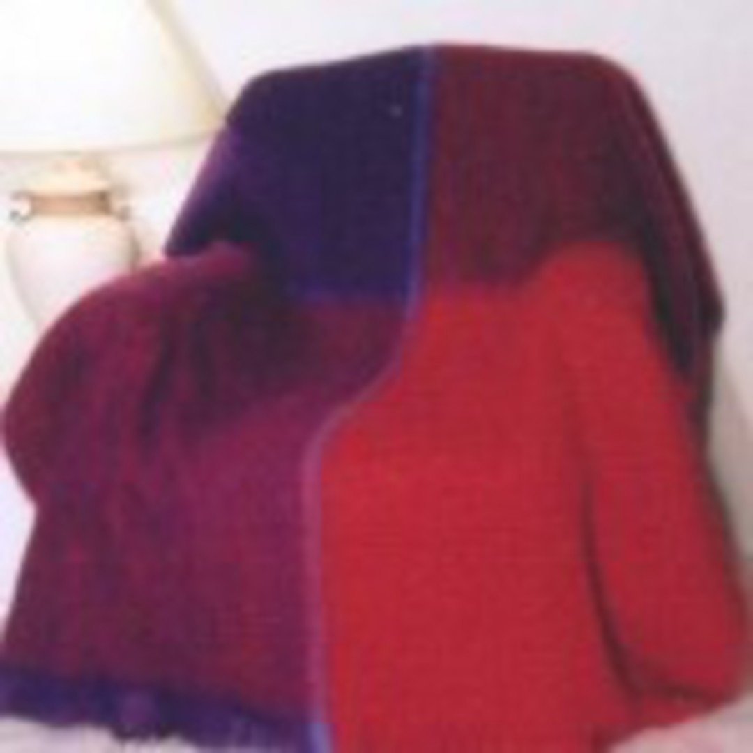 New Zealand Made Windermere Mohair Plaid Throw - Berry image 0