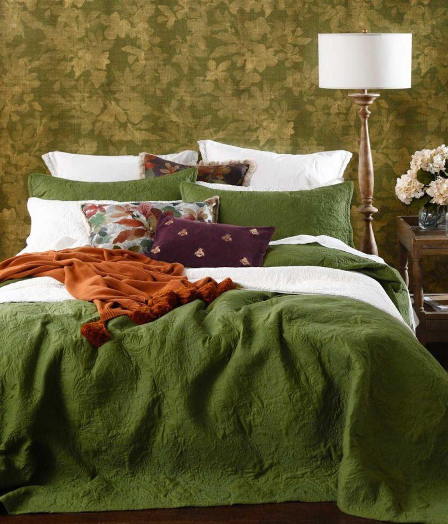 MM Linen - Ancara Bedspread Set - Clover image 0