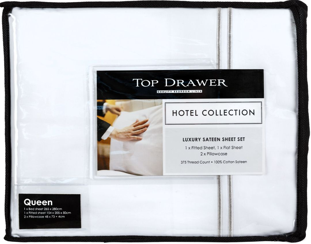 Top Drawer - Hotel Collection Sheet Set with Double Festoon image 2