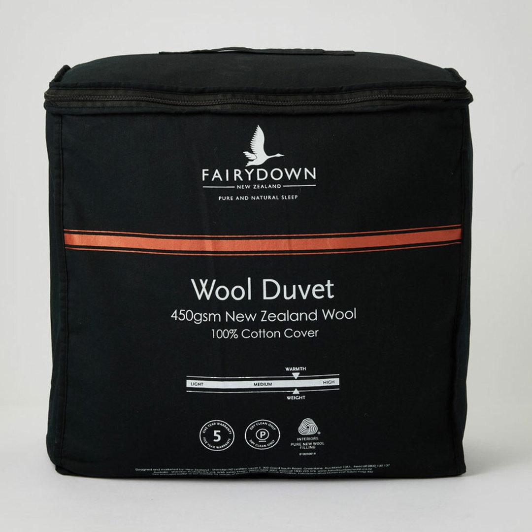 Fairydown -  Woolmark Certified New Zealand Wool Duvet Inner 450gm image 0