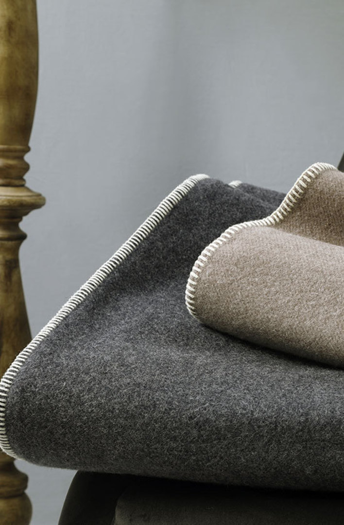 MM Linen - Wellshead NZ Wool Blanket - Charcoal image 0