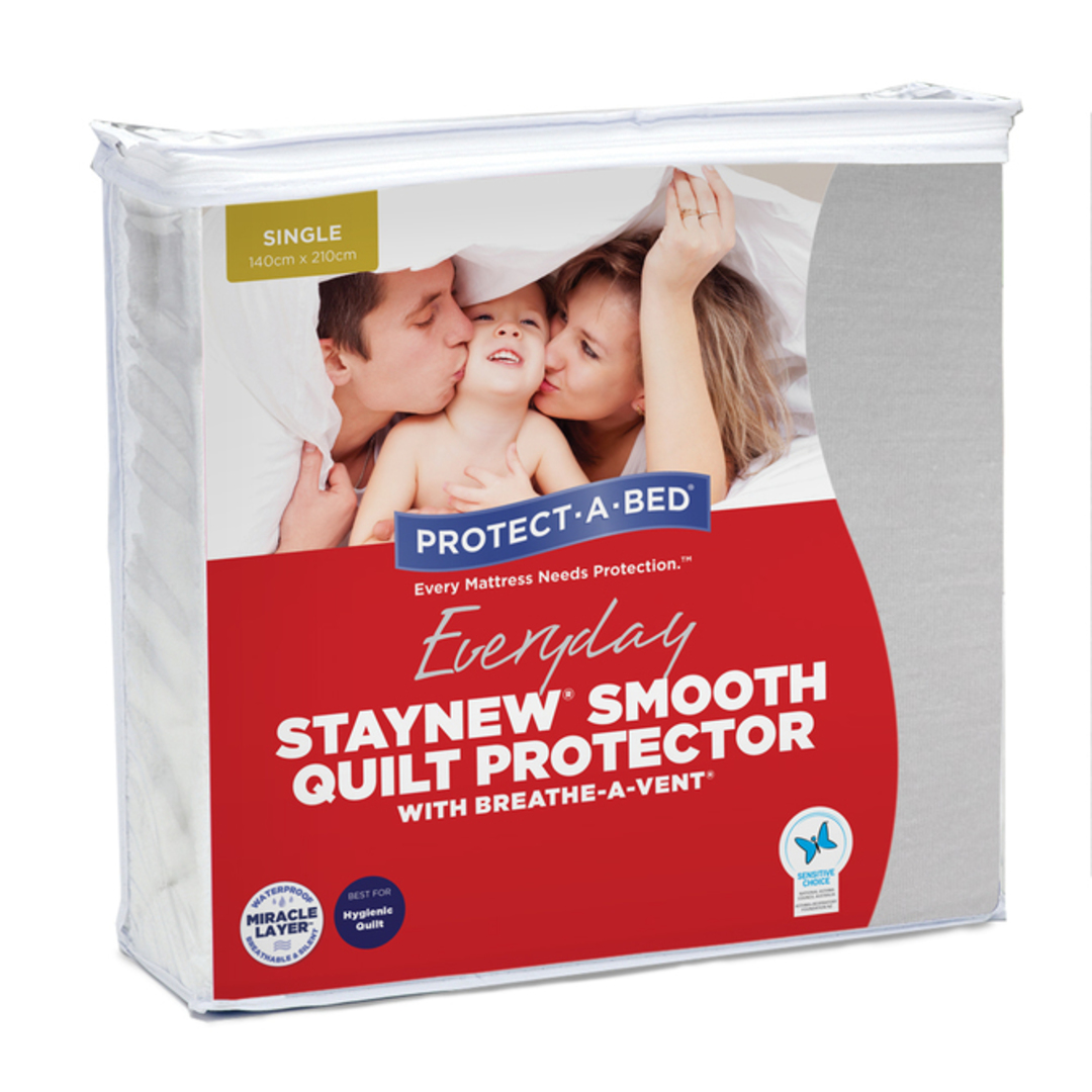 Protect-A-Bed Staynew Smooth Quilt Protector image 0