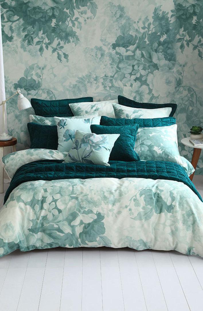 MM Linen - Provence Duvet Cover Set -Duckegg - Queen image 0