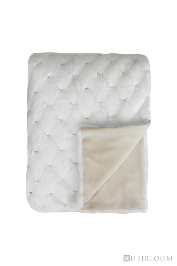 Heirloom Exotic Faux Fur -  Cushion / Throw  -  Valentina - White image 1