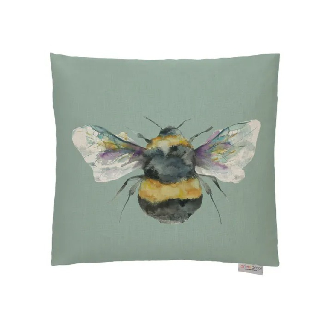 Voyage Maison - Bee Cushions - Duckegg/ Linen/Silver/Slate image 0