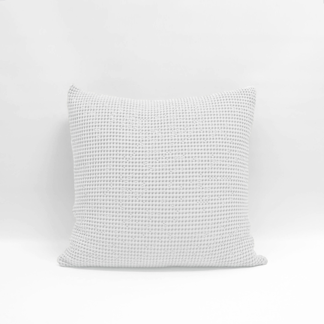 Baksana - New Bliss Stonewashed Throw/Blanket/ Eurocase - White image 0