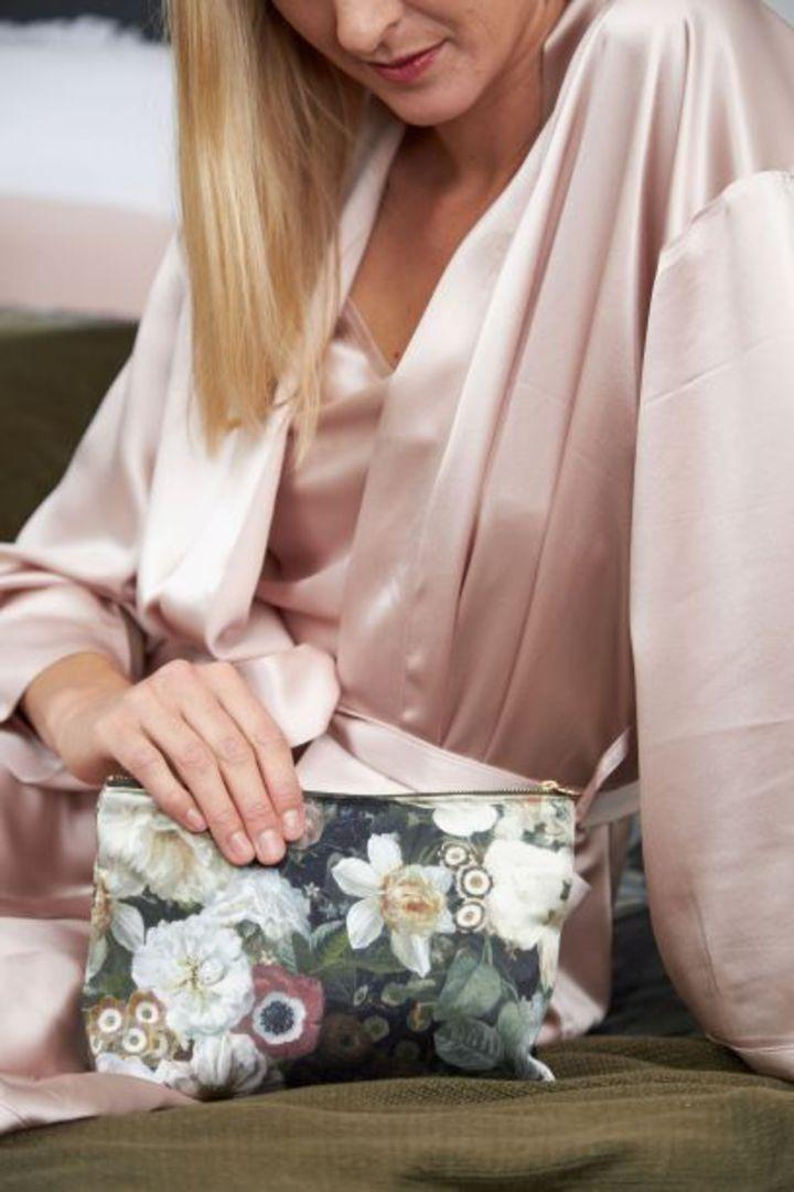 MM Linen - Silk Robe - Blush image 2