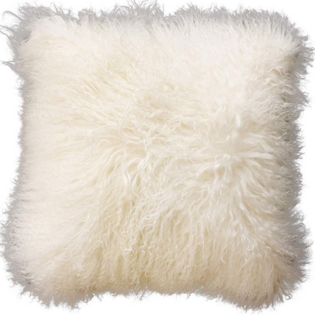 Furtex - Meru Tibetan Lamb Fur Cushion - Natural White image 0