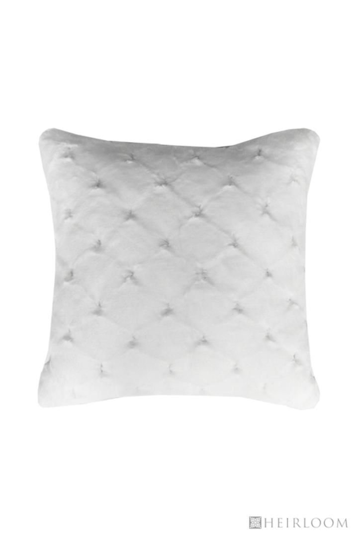 Heirloom Exotic Faux Fur -  Cushion / Throw  -  Valentina - White image 2