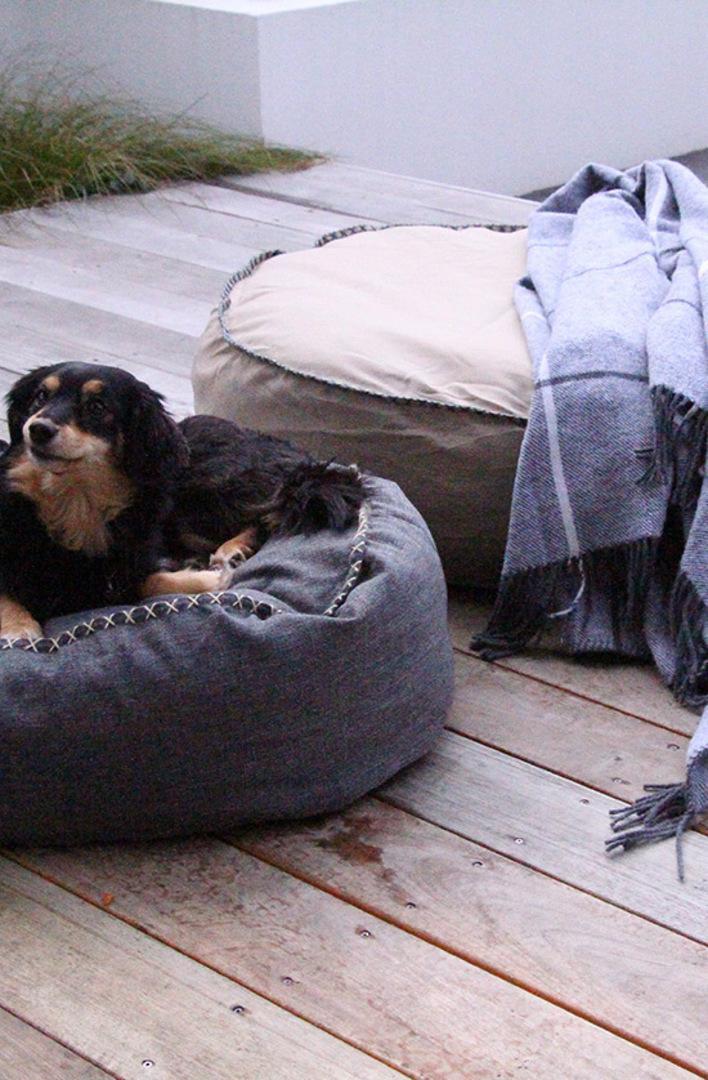 MM Linen - Kalo Natural Pet Bean Bed - Unfilled image 1