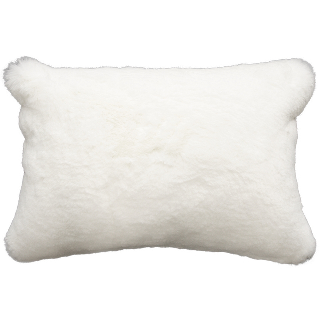 Heirloom Exotic Faux Fur Cushion/ Throw - Polar Bear image 1