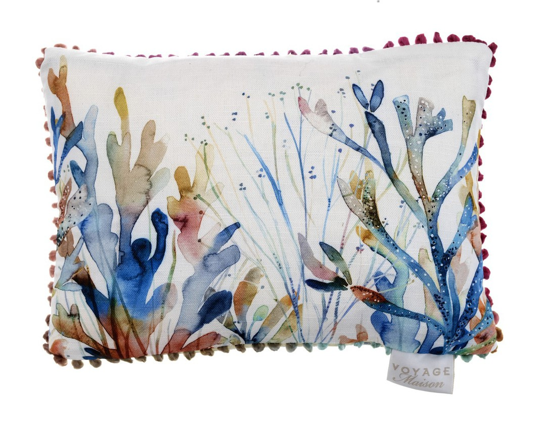 Voyage Maison - Riviera/Art House - Coral Reef Cushion - Cobalt image 0