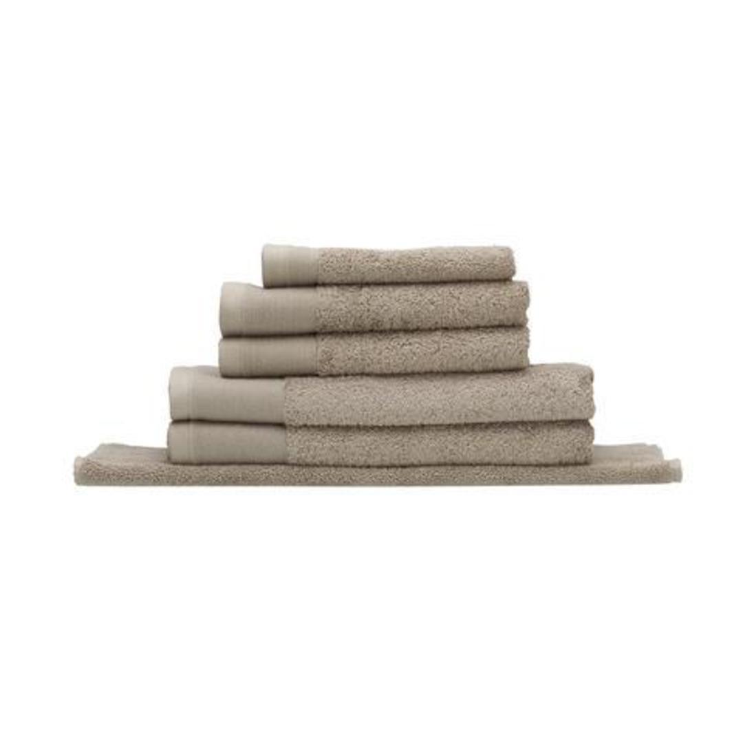 Seneca - Vida Organic Towels, Face Clothes, Hand Towels, Bath Mats - Stone image 0