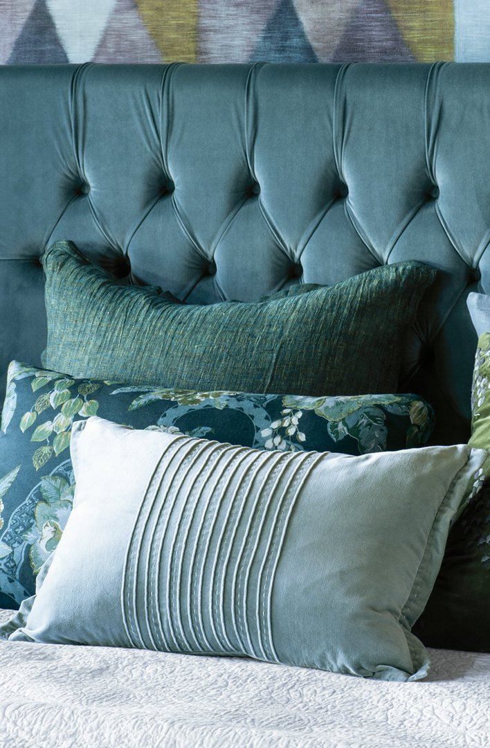 Bianca Lorenne - Piega Cushion - Smoke Blue image 0