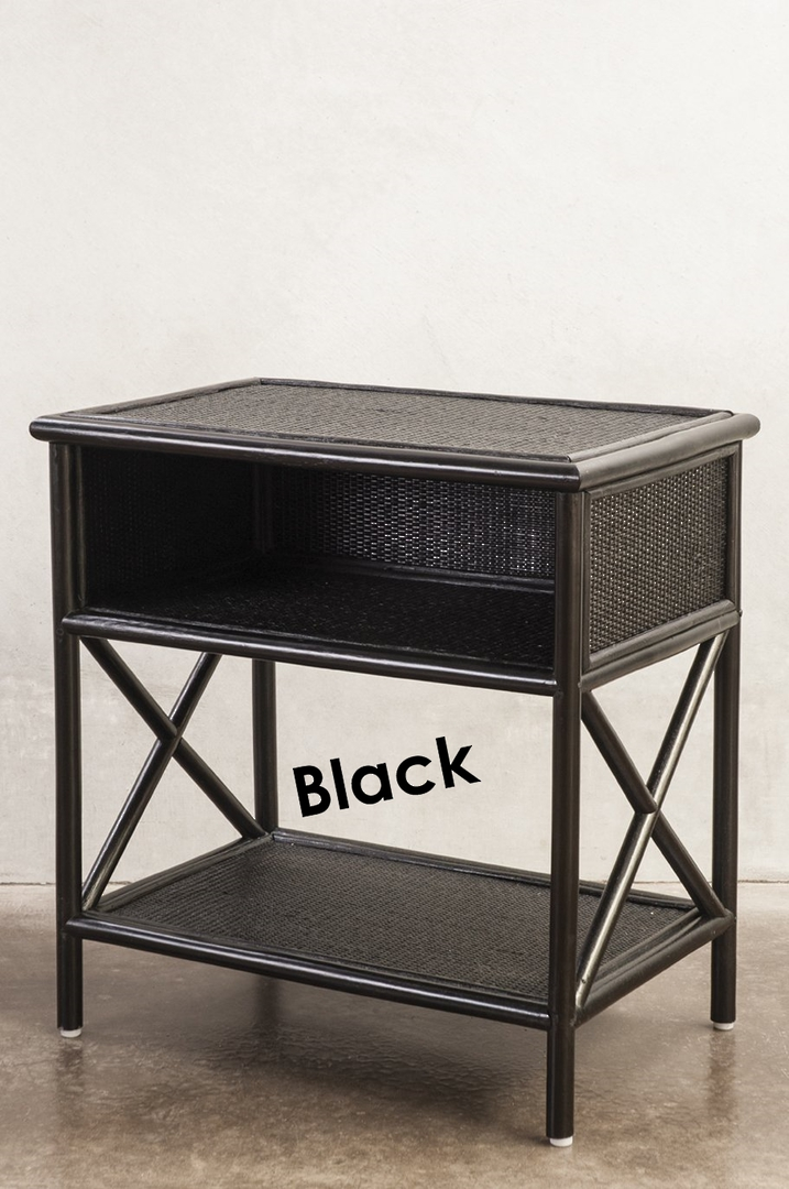 Bianca Lorenne - Capezalle Rattan Bedside Tables image 0
