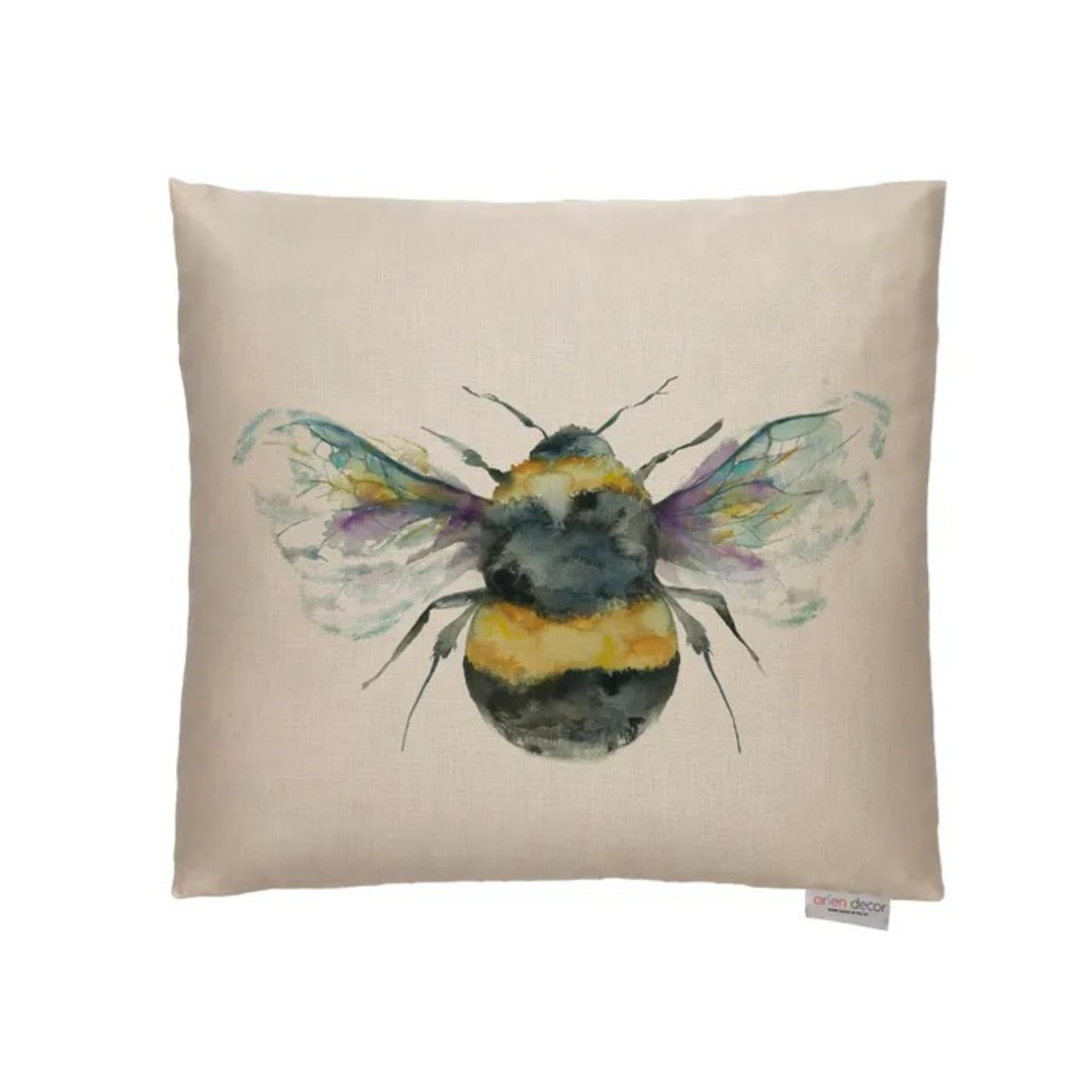 Voyage Maison - Bee Cushions - Duckegg/ Linen/Silver/Slate image 1