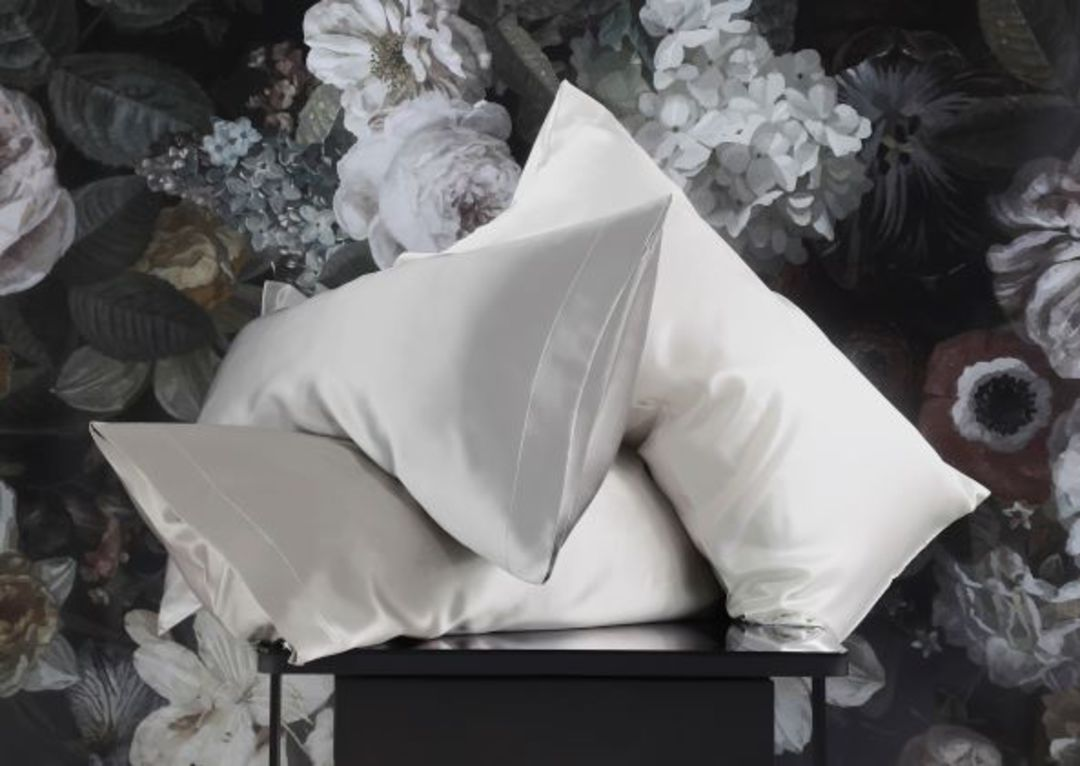MM Linen - Silk Pillowcases - Champagne, Pewter, White image 1
