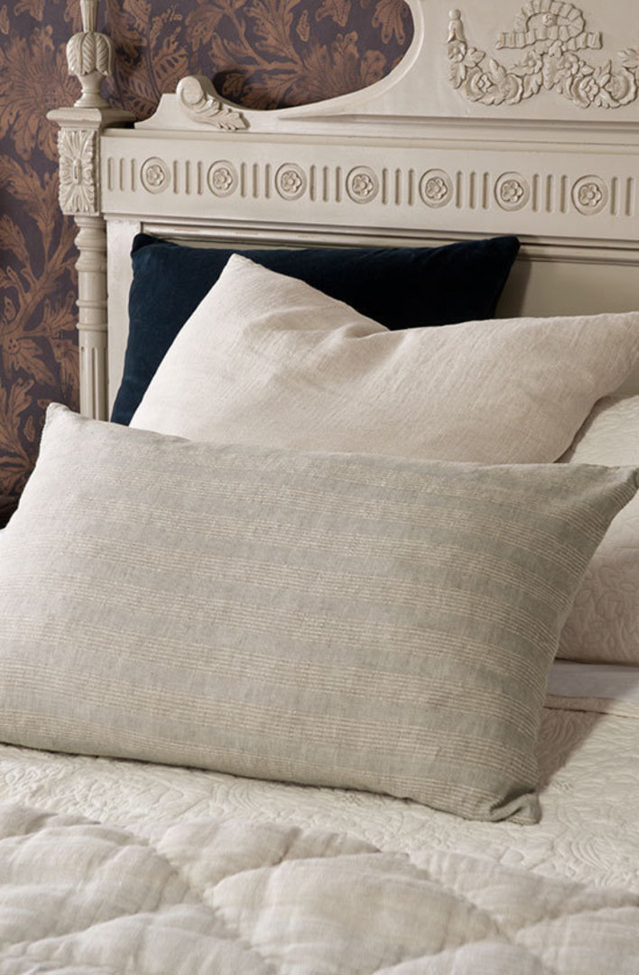 Bianca Lorenne - Tessere Pillowcase/Eurocase - Taupe Stripe image 1