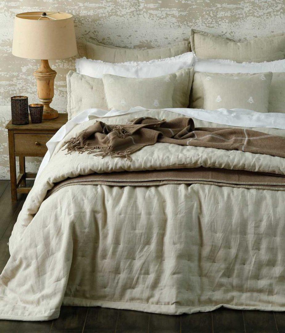 MM Linen - Laundered Linen Bedspread Set - Natural image 1