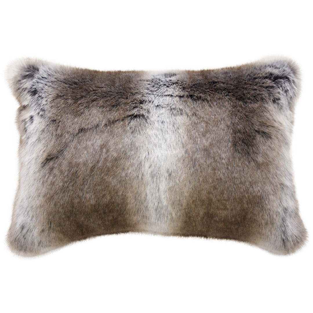 Heirloom Exotic Faux Fur Cushion / Throw - Striped Elk image 1