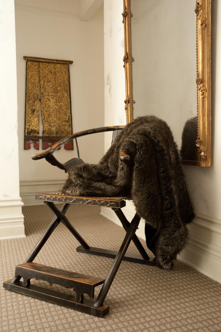 Heirloom Exotic Faux Fur Cushion / Throw -  Husky image 0