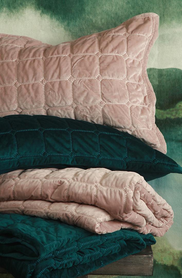 MM Linen - Meeka Rosewood Quilted Comforter Set / Eurocase Set image 0