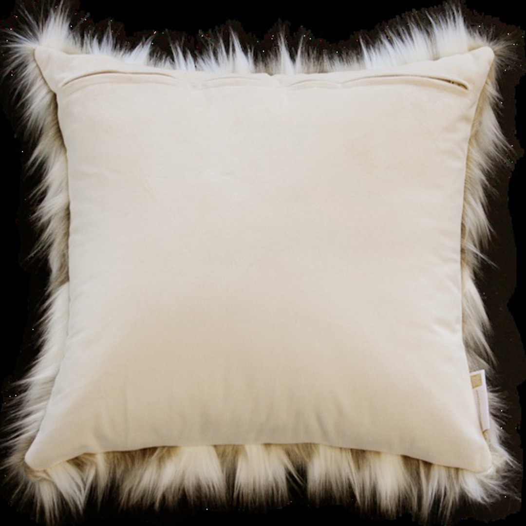 Heirloom Exotic Faux Fur - Cushion / Throw- Snowshoe Hare image 2