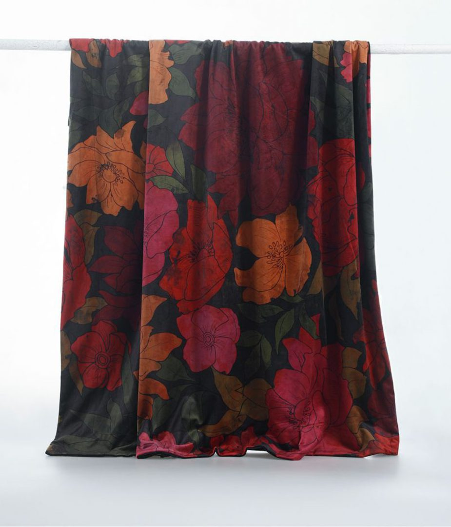 MM Linen - Sumi Velvet Throw image 1