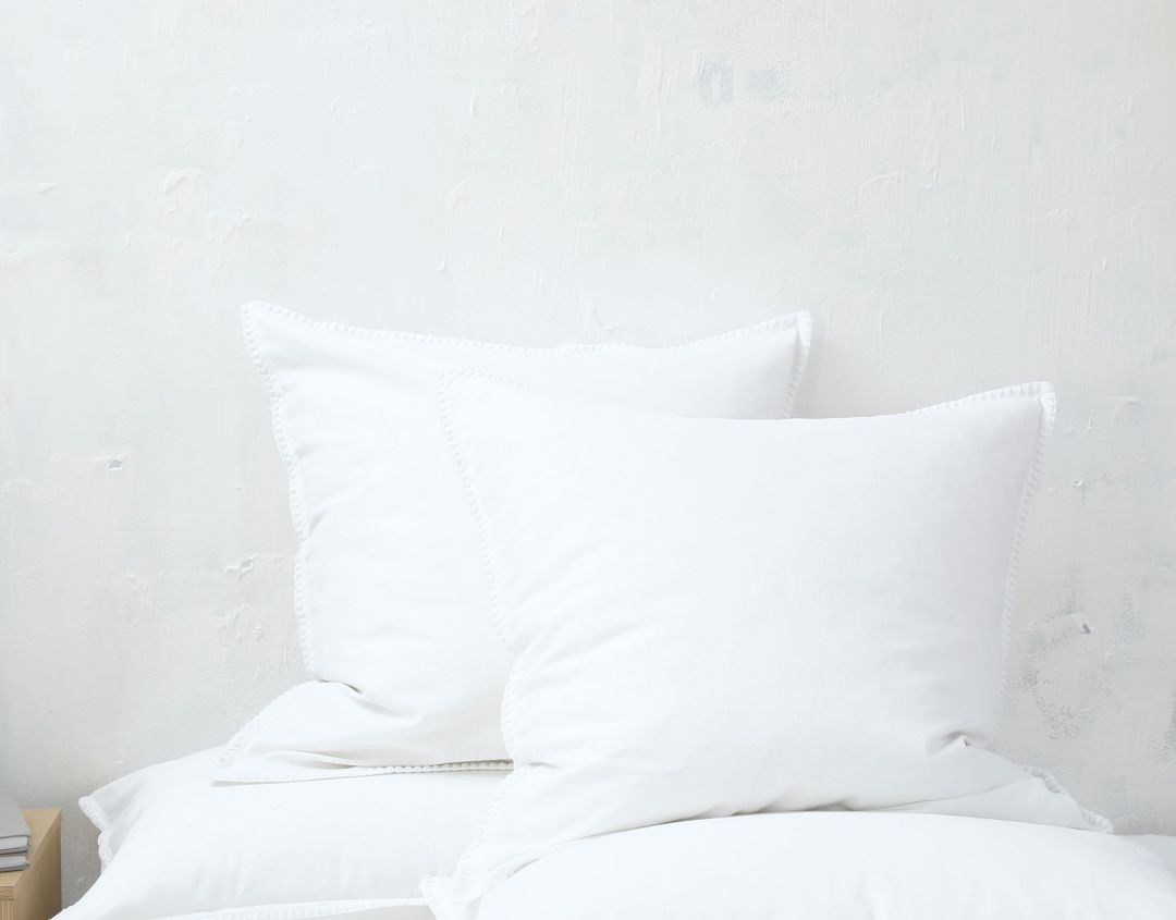 MM Linen - Stitch - Duvet Set/Eurocase Set - White image 1