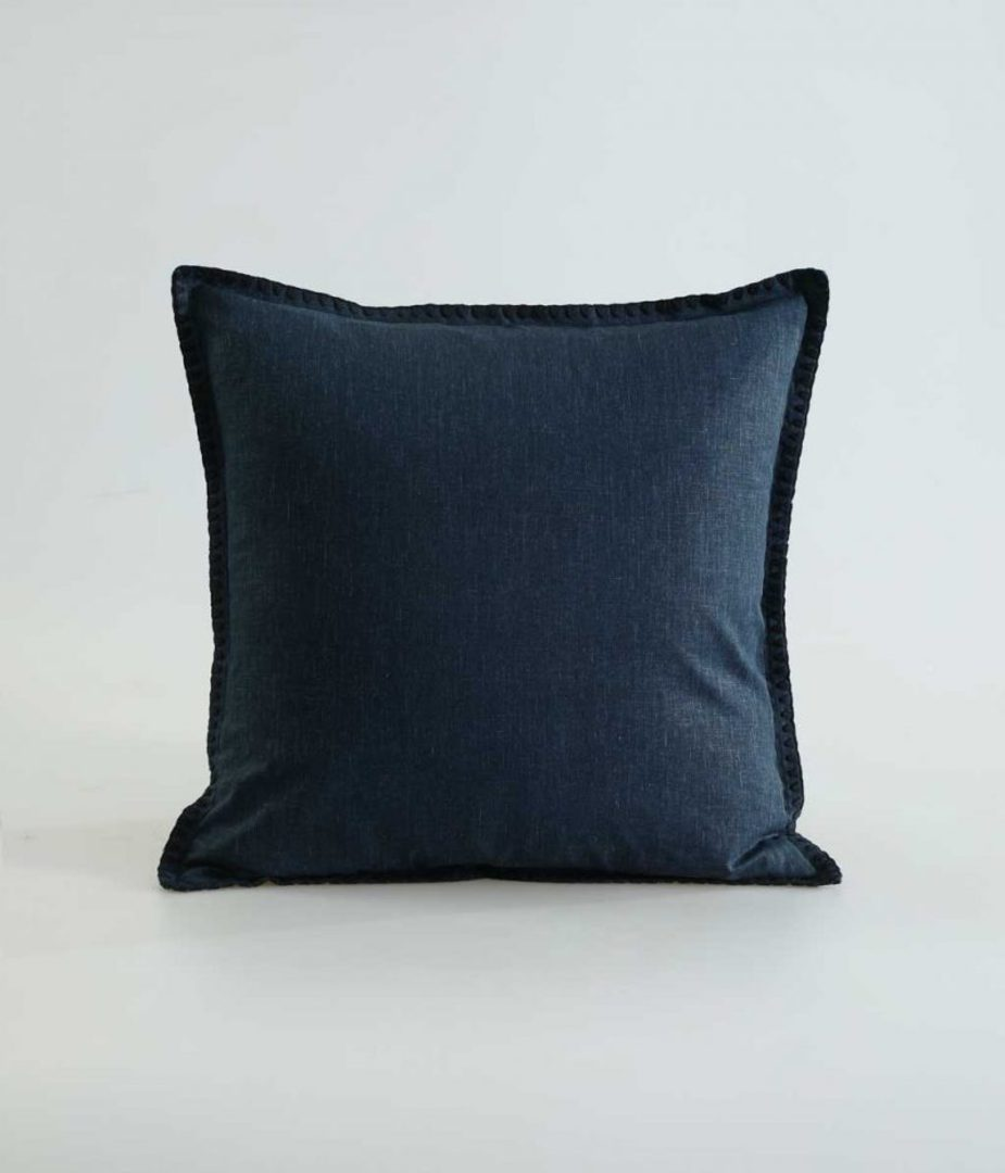 MM Linen - Stitch Duvet Set - Navy image 2