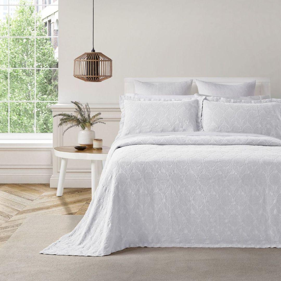 Baksana - Citron Bedspread Set - White image 0