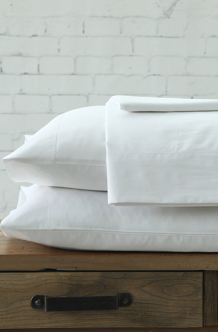 MM Linen - Maddon 500TC White Sheet Set / Pillowcases image 0