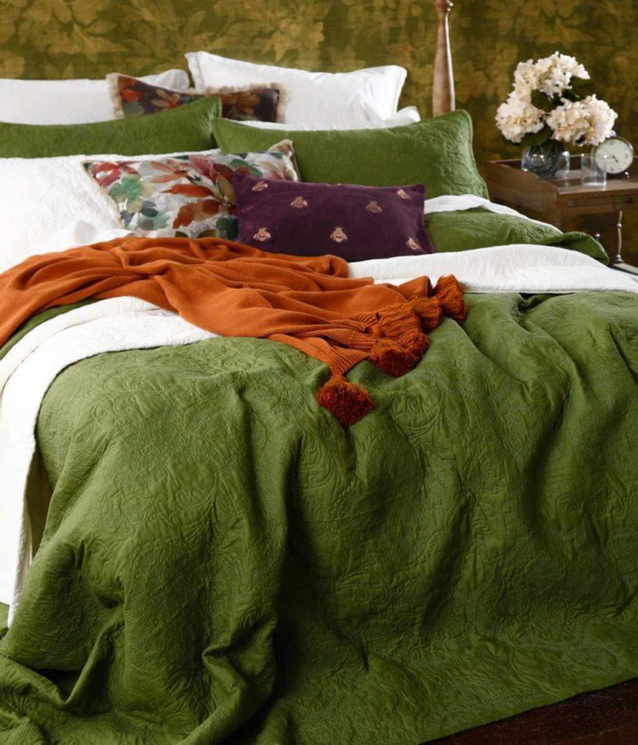 MM Linen - Ancara Bedspread Set - Clover image 1