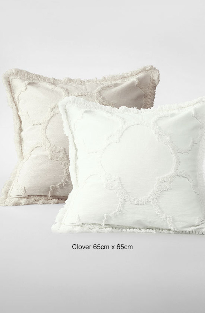 MM Linen - Clover Natural Cushions image 1