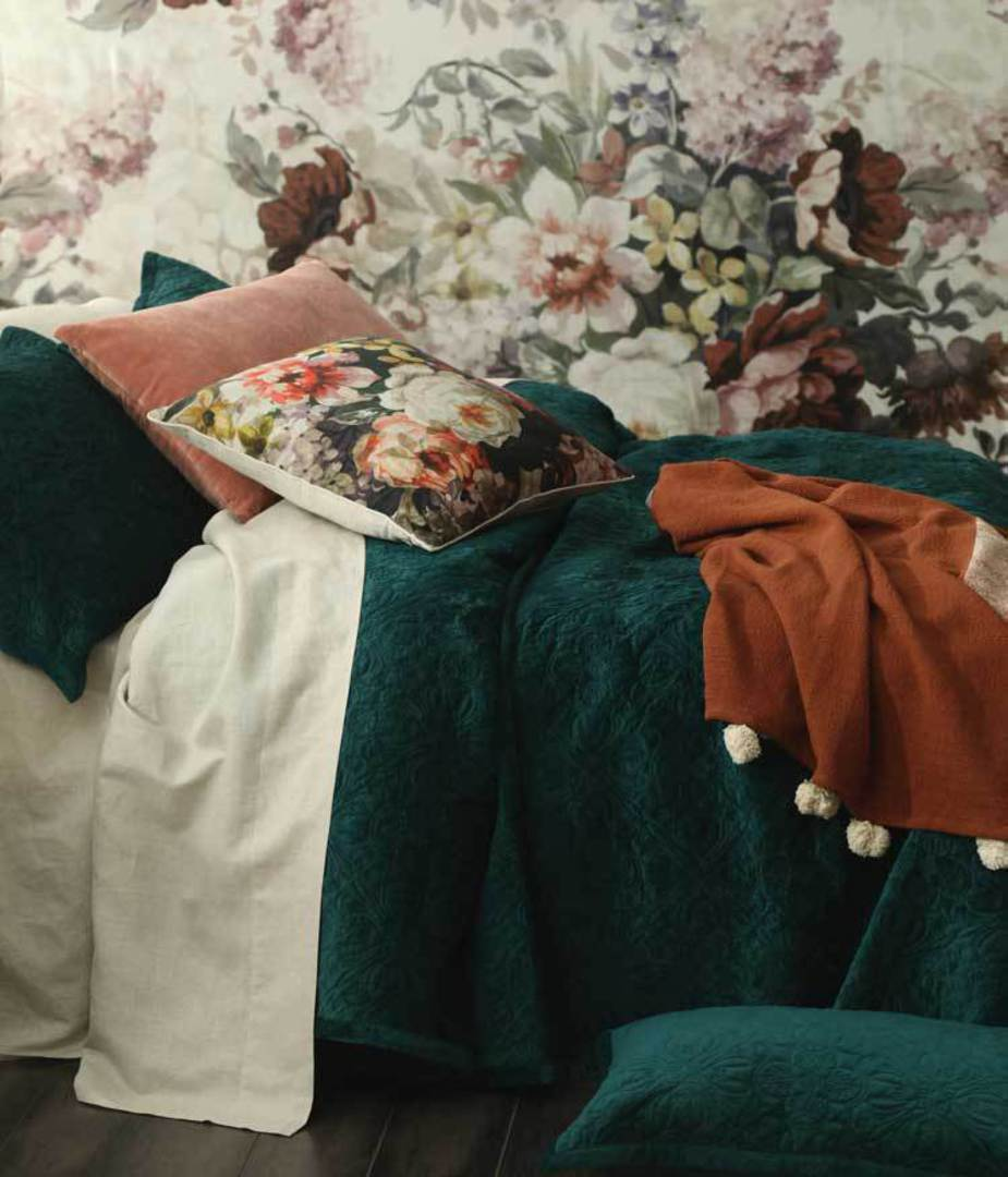 MM Linen Naja Deep Teal King Bedspread Set image 3