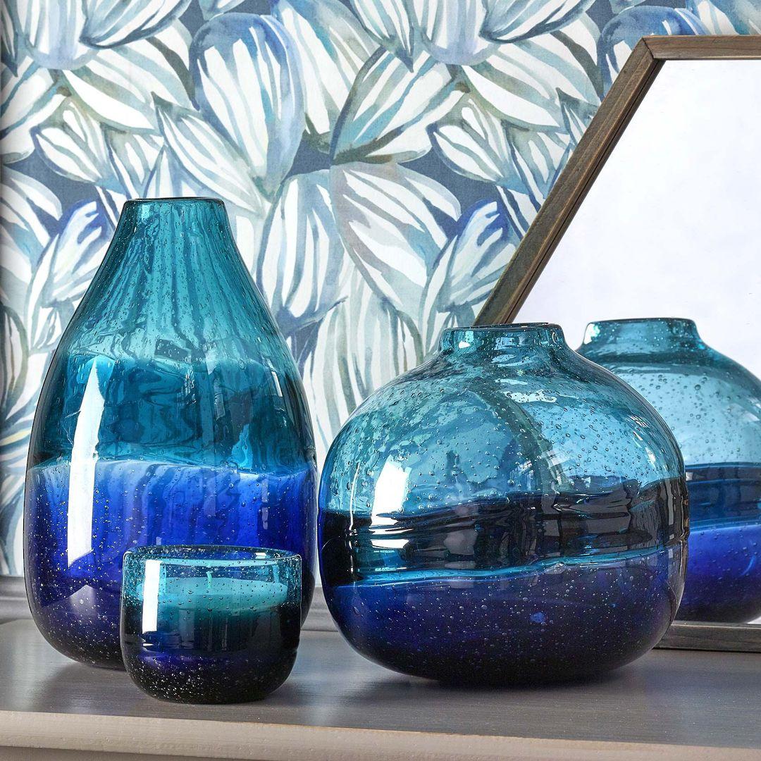 Importico - Voyage Maison Glass - Chandra Round Vessel - Cobalt image 1