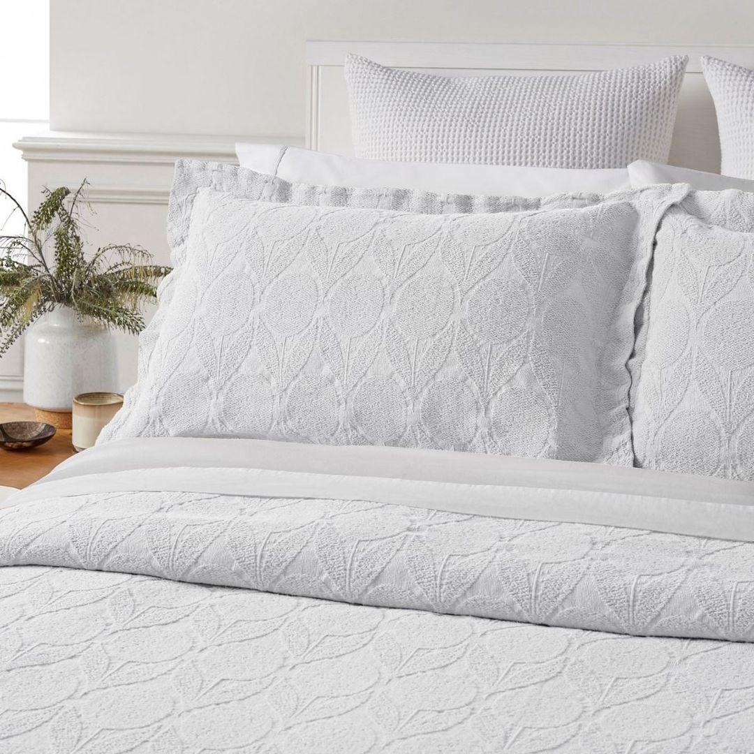 Baksana - Citron Bedspread Set - White image 1
