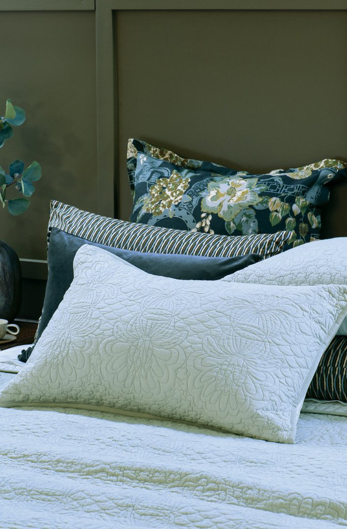 Bianca Lorenne - Fontanella - Bedspread - Pillowcase and Eurocase Sold Separately - Duck Egg image 1