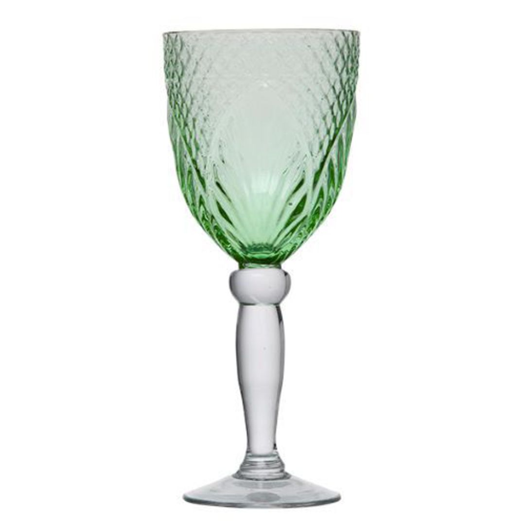 French Country - Vintage Green Goblets image 0