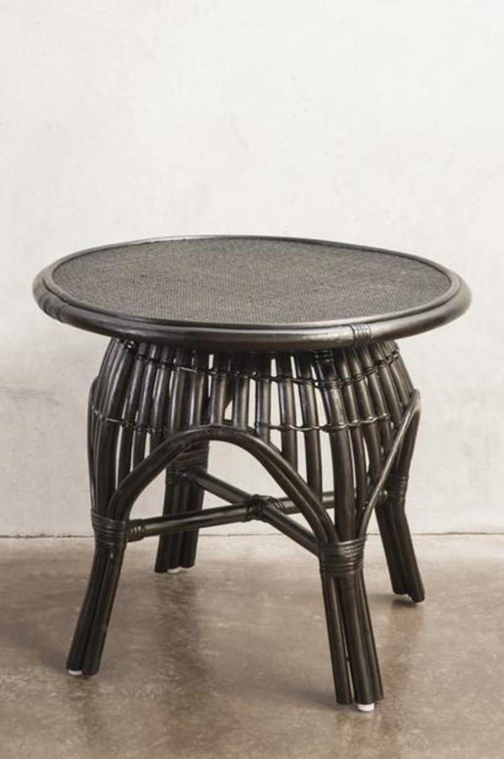 Bianca Lorenne - Bosa Black Rattan Bedside/Coffee Table image 0