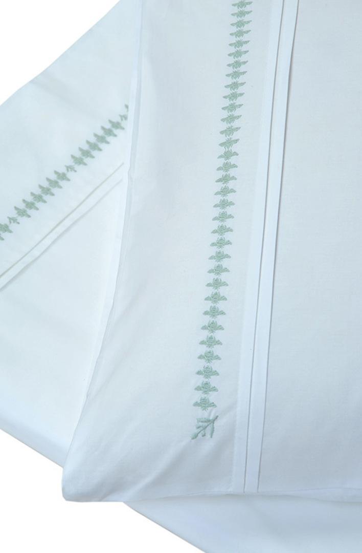 MM Linen - French Bee Sheet Set - Duckegg image 1