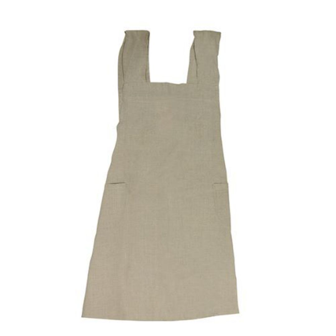 French Country - Aprons Cross Back - Grey, Navy, Pale Blue, Natural image 3
