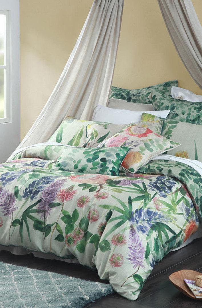 MM Linen Protea Duvet Cover Set - King image 0