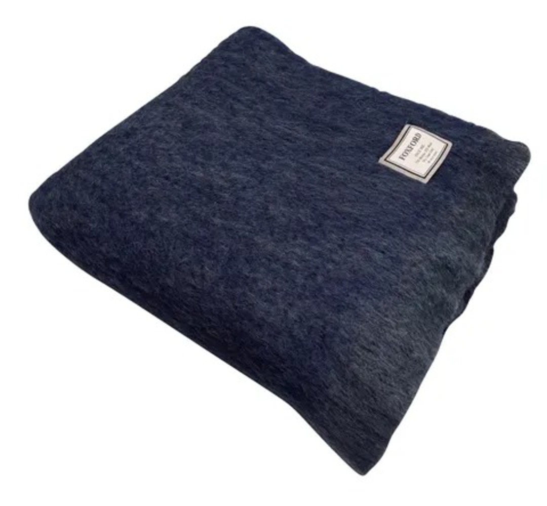 Importico -Foxford - Mohair Throw - Ink image 0