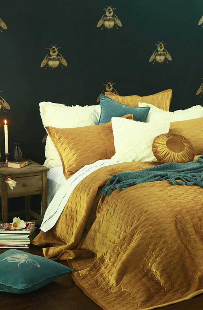 MM Linen - Aurum Quilted Bedspread Set -  Gold image 0