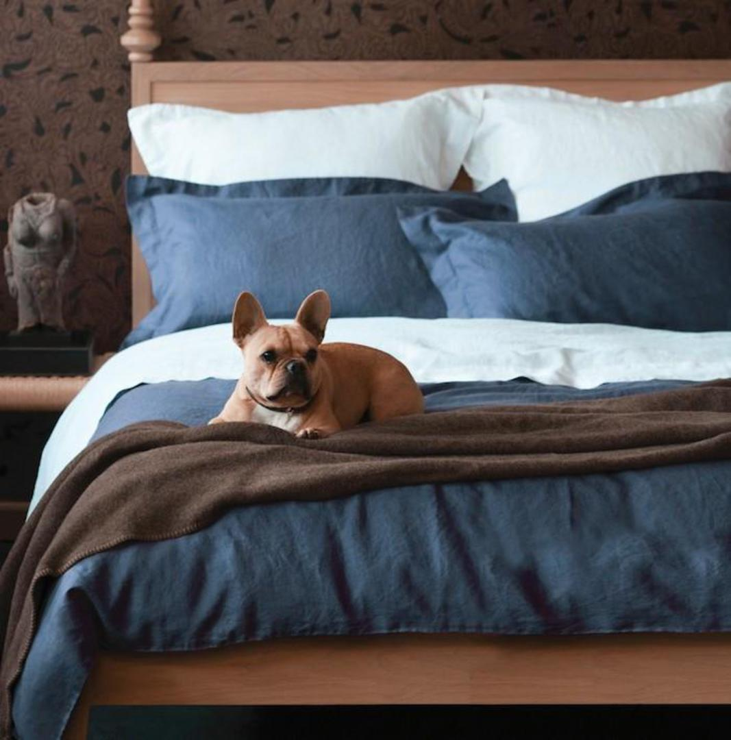 Seneca - Vida Linen Sheets / Pillowcases - Ink Blue image 0