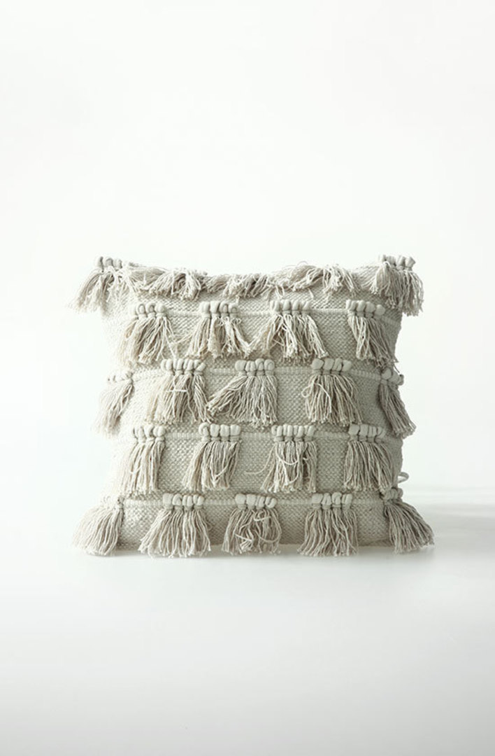 MM Linen - Fringe Cotton Cushion image 0