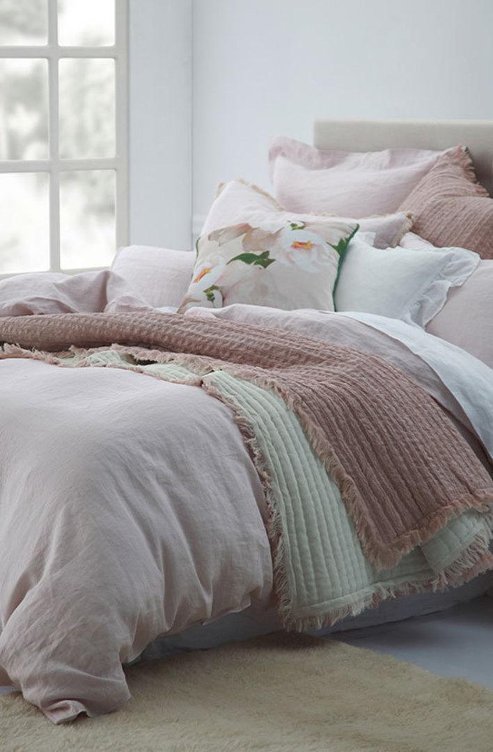 MM Linen - Laundered Linen Duvet Cover Set - Blush image 0