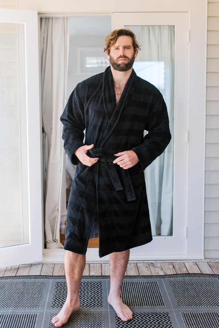 Baksana - Aiden Bathrobe - Port (Burgundy) image 2